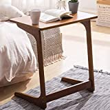 Sofa Side Table Creative Bamboo Laptop Table Living Room Bedroom Bedside Coffee Table Balcony Casual Snack Coffee Reversible Table Office Study Desk