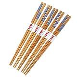 YoungerY 5 paia di bacchette giapponesi in Legno di bambù Naturale degno di Cena riutilizzabile 22cm