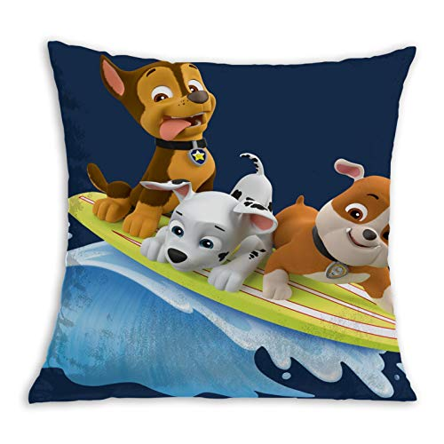 Sk-ye Pa-w Pa-trol Comfortable Pillowcase Home Decoration Garden Cushion Cover Square Inside and Outside