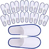 24 Pair Spa Flip Flops Disposable Slippers for Hotel Guests Women, Men Closed Toe Super Co...