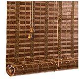 Giardino Lujosas persianas Romanas de bambú Natural para Ventanas, persianas para el Sol, persianas Romanas multifuncionales, Cortinas Opacas para el Elevador de balcón de partición para el hogar