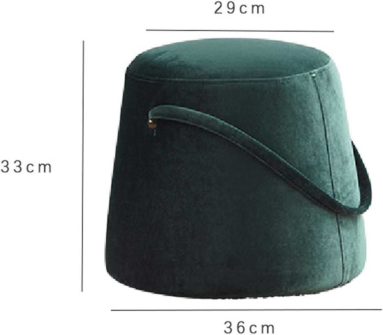 Portable Home Stool,Modern Simple Fabric Living Room Sofa Stool Makeup Stool shoes Bench Home Stool,Small Stool-e
