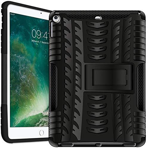 Verco Hülle für iPad Air (2013 Modell), Outdoor Schutzhülle Armor Tablet Case Cover, Schwarz