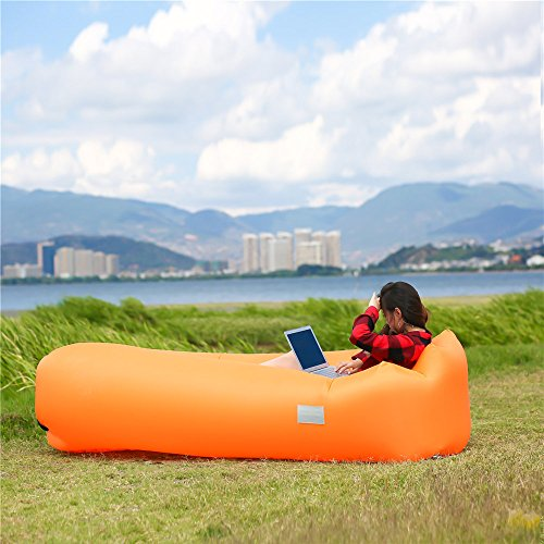 WEKAPO Inflatable Lounger Air Sofa Hammock-Portable,Water Proof& Anti-Air Leaking Design-Ideal Couch for Backyard Lakeside Beach Traveling Camping Picnics & Music Festivals