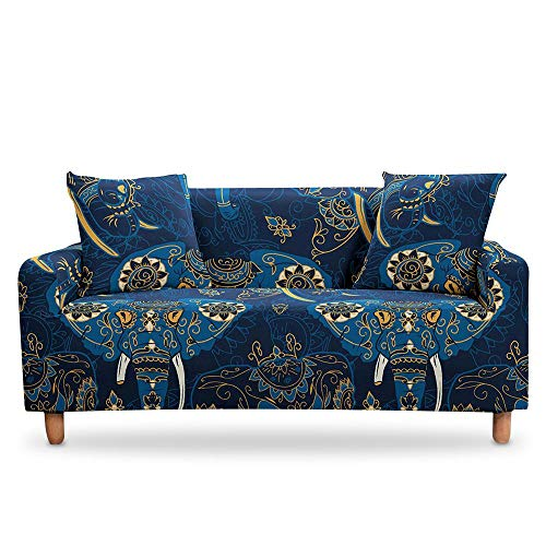 Mandala Bohemian Sofa Cover Sectional Slipcover Cover Couch Cover Elastic StretchArmchair Cover for Living Room A14 4 seater