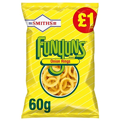 £1 Smiths Funyuns Onion Rings 60g (Case of 15 x 60g bags)