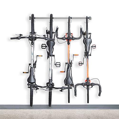 Monkey Bars Garage Bike Rack 2.0 - Stores 4 Bikes - Heavy Duty Garage Bike Storage