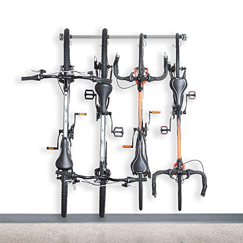 Monkey Bars Garage Bike Rack 2.0 - Stores 4 Bikes - Heavy Duty Garage Bike Storage