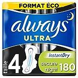 Always Ultra - Serviettes hygiéniques Secure, Night, Format éco x180