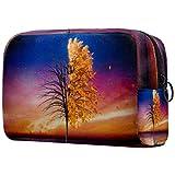Kosmetikkoffer Baum Reflection großes Fassungsvermögen wasserabweisend Make-up Kosmetiktasche...