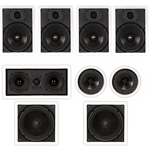 Theater Solutions TSCST87 Flush Mount 7.2 Speaker Set in Wall and Ceiling