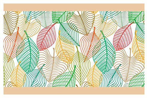 dekodino Bordüre Borte Herbstliches Blattmuster Küche Kinder selbstklebend Deko