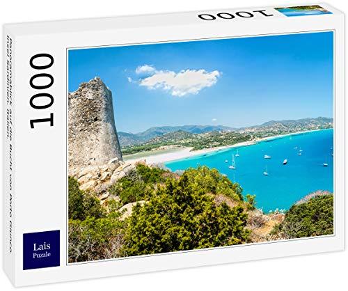 Lais Puzzle Vista panoramica della Baia di Porto Giunco. Isola di Sardegna. Italia. 1000 Pezzi