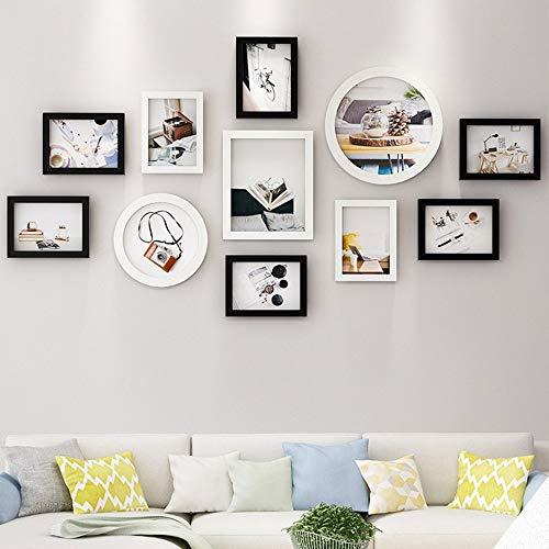 Décoration Murale de Mur de Combinaison de Photo, Salon Chambre Peinture Murale décoration Murale Bricolage, TV Mur de Fond peintures décoratives 11 (avec Noyau d'image)