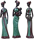 ZCYY Figuras africanas Escultura Tribal Lady Figurine Estatua Arte Coleccionable, Figuras Negras Dec...