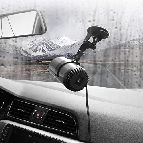 Chauffe-voiture portatif de pare-brise, Mini désembueur de dégivreur de voiture 12V, 2 en 1 30S Mini chauffe-voiture automatique à chauffage(150 W)
