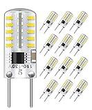 12-Pack Dimmable G8 LED Bulbs T4 Type, 20-25W Equivalent, 6000K Daylight, Bi-Pin G8 Base, LED Puck Light Bulbs for Under Cabinet, Under Counter Light Bulbs, Outdoor Landscape Light Bulbs