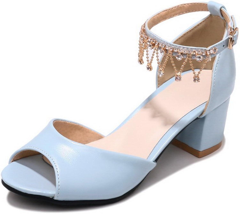 BalaMasa Womens Sandals Kitten-Heels Huarache Urethane Sandals ASL04792