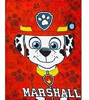 パウパトロール マーシャル フリースブランケット 毛布 寝具 ひざ掛け 120X90cm 子供用 paw patrol (並行輸入品) 赤