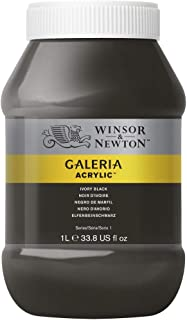 Winsor & Newton Tinta Acrílica Galeria W&N 1 Litro 331 Ivory Black