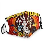 Looney Tunes - Polaina de cuello unisex para cuello, pasamontañas, calentador de cuello, protección UV y viento, reutilizable, lavable, elástico, transpirable, bandana para yoga, correr, senderismo