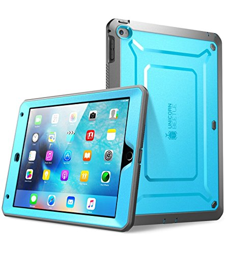 SUPCASE [Unicorn Beetle Pro Series] Case Designed for Apple iPad Mini 4 2015/ 2018, Full-body Rugged Hybrid Protective Case with Built-in Screen Protector (Blue)