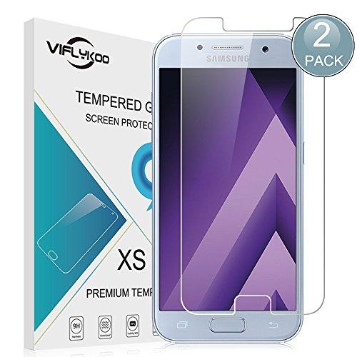VIFLYKOO Samsung Galaxy A5 2017 Pellicola Protettiva 2-Pack Vetro Temperato 9H Premio di Protezione Schermo per Galaxy A5 2017 Smartphone Flim Protection (Nessuna Copertura Completa)