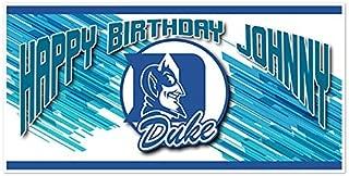 Duke Blue Devils College Football Birthday Banner Party Decoration Backdrop