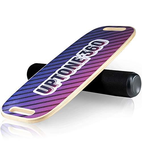 UpTone360 Balance Board aus Lindenholz | Wackelbrett mit Rolle als Perfekter Gleichgewichtstrainer | sicher, robust & extrem langlebig | ideales Fitness Zubehör für Zuhause