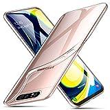 ivencase Crystal Kompatibel mit Samsung Galaxy A80 Hülle case, Silikon Schlank Transparent TPU [Anti-Gelb] Durchsichtige Schutzhülle Hülle Superdünnen Hülle passt Handyhülle für Samsung Galaxy A80