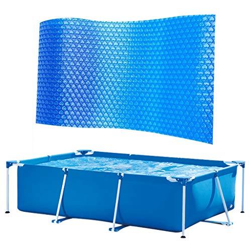 Aoogo Poolabdeckung Rechteck, Pool Abdeckplane, Pool Solarplane, Solar Pool Cover, Solarabdeckplane Pool Anti-Verdunstung, Schwimmbad Isolierfolie Plane (260x160cm)