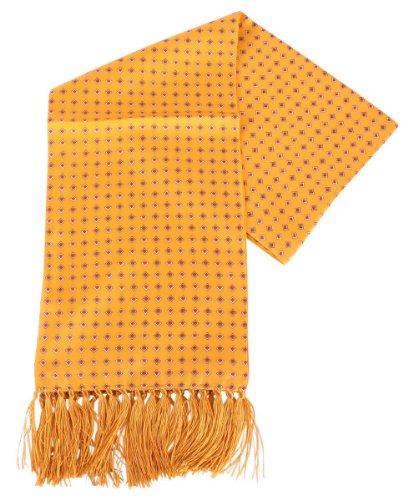 Knightsbridge Neckwear Sciarpa arancione Diamante Aviator seta