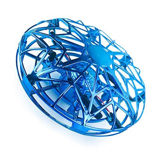ZYS UFO 360 ° Drehbares Luftfahrzeug Fliegender Hubschrauber Spielzeug mit attraktivem Licht Design Fernbedienung Empfindlicher Infrarot-Induktionssensor USB-Aufladung Eingebauter hoher Akku für Spaß