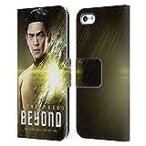 Head Case Designs sous Licence Officielle Star Trek Sulu Personnages Au-Delà de XIII Coque en Cuir à Portefeuille Compatible avec Apple iPhone 5c