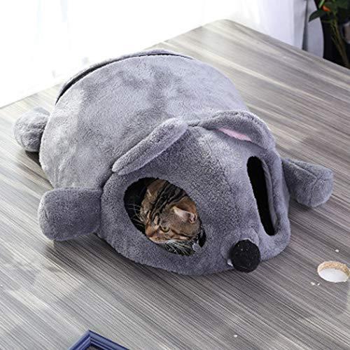PLMOKN Saco de Dormir para Gatos, Forro Polar, Suave, autocalentable, Lavable, Camas para Gatos, Saco para acurrucarse, Manta, Estera, Saco para Gatos, Adecuado para Gatos y Cachorros