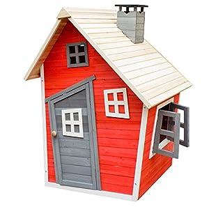 Caseta juegos niños infantil de madera casita para jardín jugar exterior ventanas