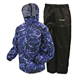 Frogg Toggs All Sport Rain Suit, Black Jacket/Black Pants, Size XXX-Large