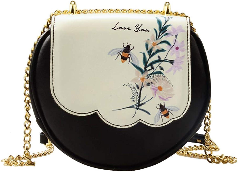 HWX Neue Gezeiten Umhängetasche, Mode Leder Satchel Satchel Satchel Bag Slung Halbrunde Kette Tasche (Farbe   EIN, Größe   20cm18cm7cm) B07L88V7R5  Ab dem neuesten Modell 0a524f
