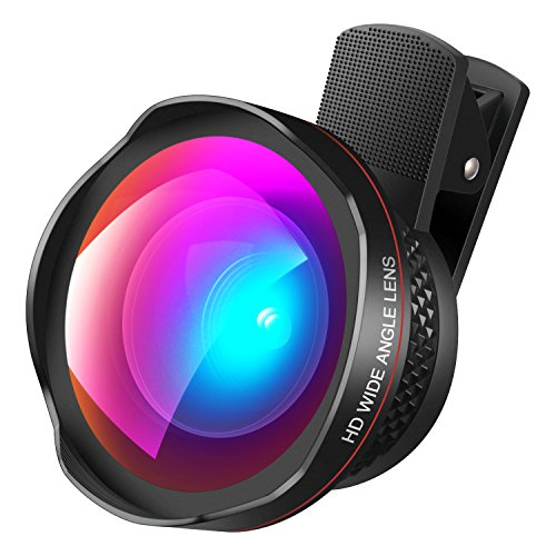 AMIR Cell Phone Lens, 2 in 1 Professional HD Camera Lens Kit, 0.45X Super Wide Angle Lens + 15X Macro Lens, Clip-On Cell Phone Lens for iPhone X / 8/7 / 6s / 6/5, Samsung Galaxy & Smartphones