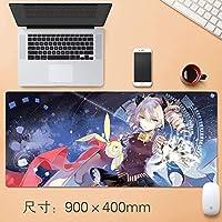 デスクノートPC周辺機器90 * 40センチメートル用マウスパッドテーブルマットHonkaiインパクト第三のゲームキャラクター八重さくら誕生日お祝い特大ノンスリッププロフェッショナルゲーミングマウスパッド (サイズ : Thickness: 3mm)