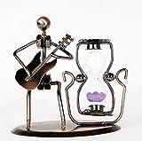 LD&P Metal Crafts Iron Man Música Gente Zapatos Pendientes Regalos Love Hourglass Parejas Creative Gift Showcase,B,12*6*14CM