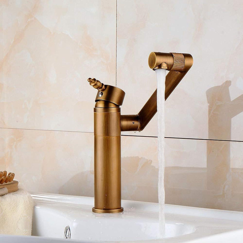 Bathroom Sink Taps Retro Basin Faucet Brass Mixer Mixing Faucet Bathroom redating Spout 360° redatable Creative Single Handle Faucet