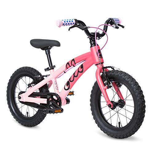 OLLO 14 Zoll Kinderfahrrad (ab 3 Jahre) für Jungen und Mädchen, leicht 6,1 kg - rosa/pink