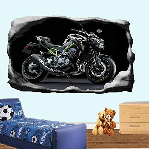 Pegatinas de pared-3D-Super Cool Fast Moto Etiqueta de la pared Transfer Art Mural Decal Poster Decor-50x70cm