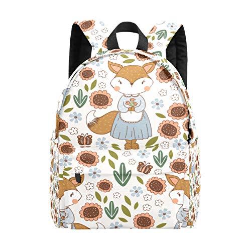 Kid's Backpacks Cute Fox Girl Kids Anima Rucksack Cute Student School Book Bags