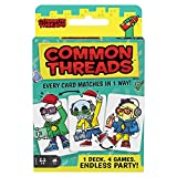 Common Threads 4-in-1 Family Card Game, Matching Game for 7 Year Olds and Up