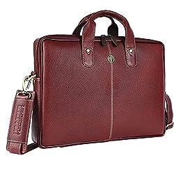 Hammonds Flycatcher Genuine Leather 13 inch Laptop Messenger Bag for Men|Office Bag|Travel Bag|Laptop Bag|Messenger Bag|,Hindustan Foam,LMB105