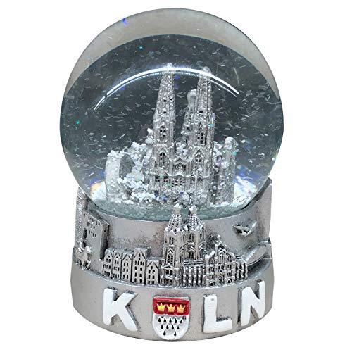 Schneekugel Köln Skyline/Kölner Dom Silber (6,5 x 4,5 cm)