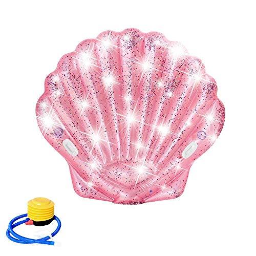 Aufblasbares Schwimmendes Bett,Aufblasbare Pailletten Shell Luftmatratze, des Sommers Aufblasbare Spielzeuge,Sommer Outdoor Beach Party,Strand,Spielzeug für Erwachsene und Kinder