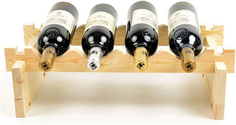 Rack Shelves Wine Racks Wooden Wine Racks Superimposed Wine Racks Decoration Wine Racks Wooden Wine Cabinets ( color   B )